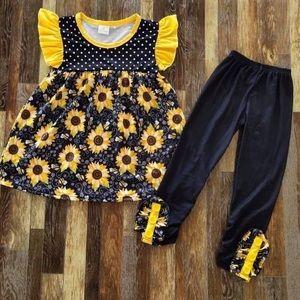Sunflower 🌻🌻🌻 Cute Ruffle Pants Set